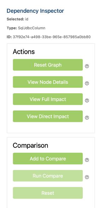 view of right side menu in CodeLogic tool